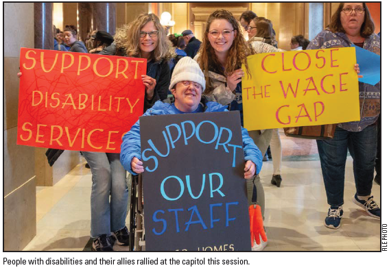 Increasing staff wages is a focus at the state capitol