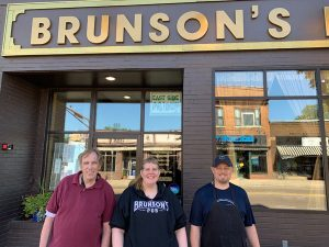 Smiling Brunson's employees