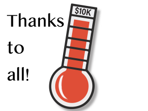 Our fund drive has reached the goal
