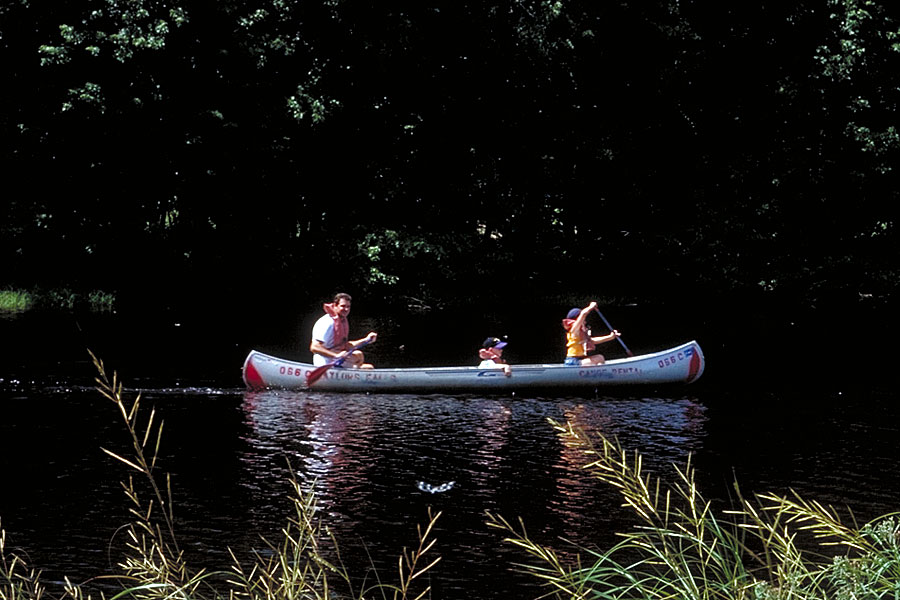 canoeing in William O'Brien State Park