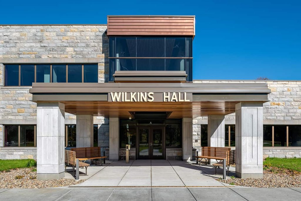 Wilkins Hall entryway