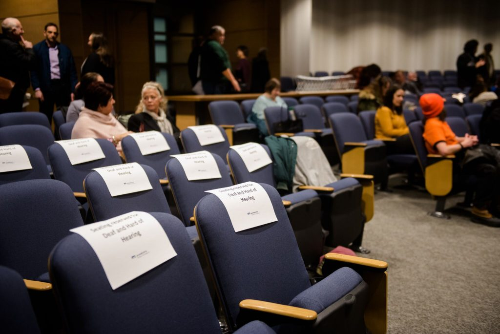 seats marked with name pages