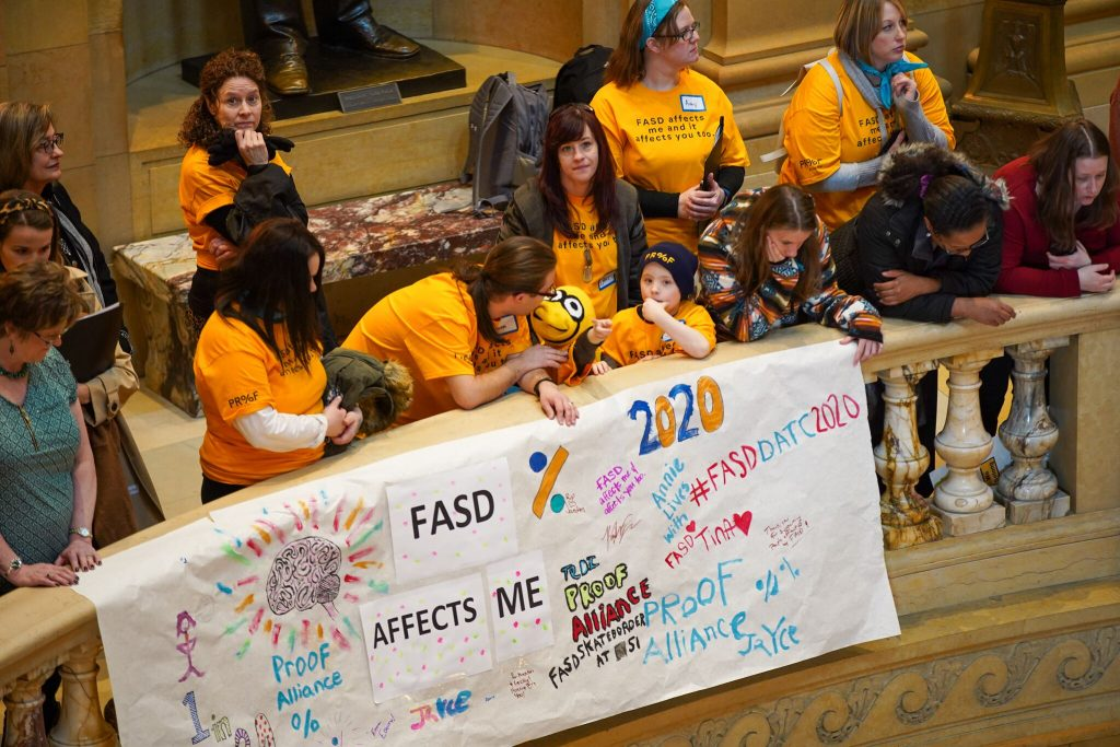 FASD members above rotunda