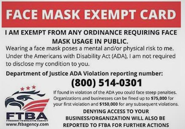 Beware of false mask claims, officials say