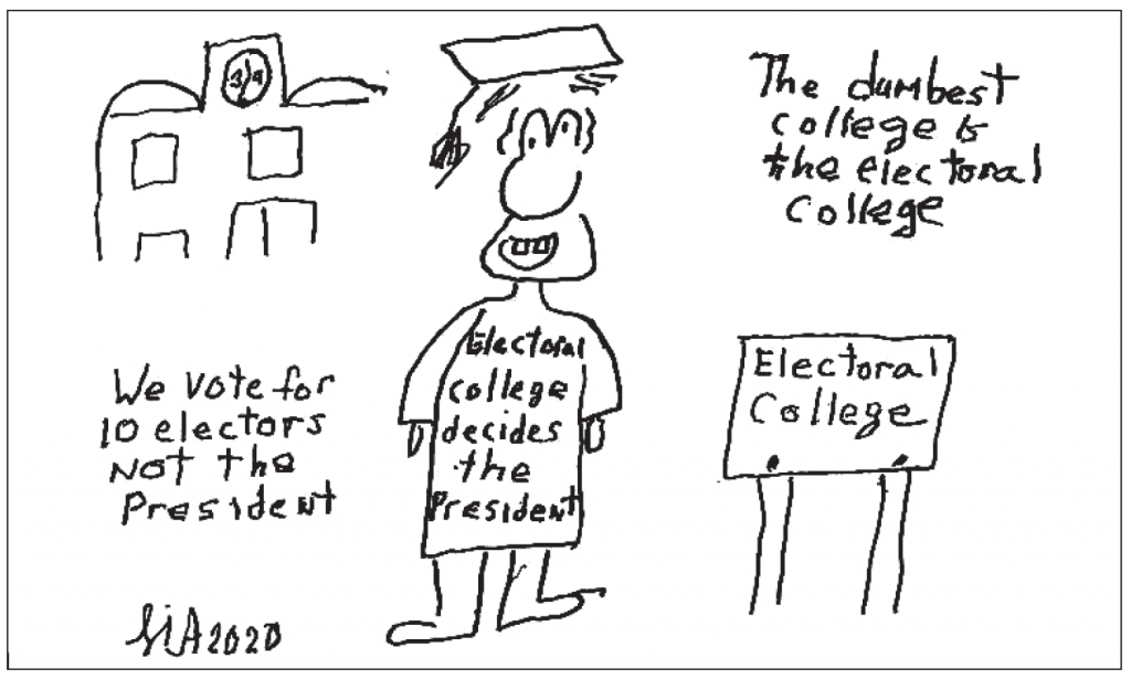 Dumbest college is the electoral college