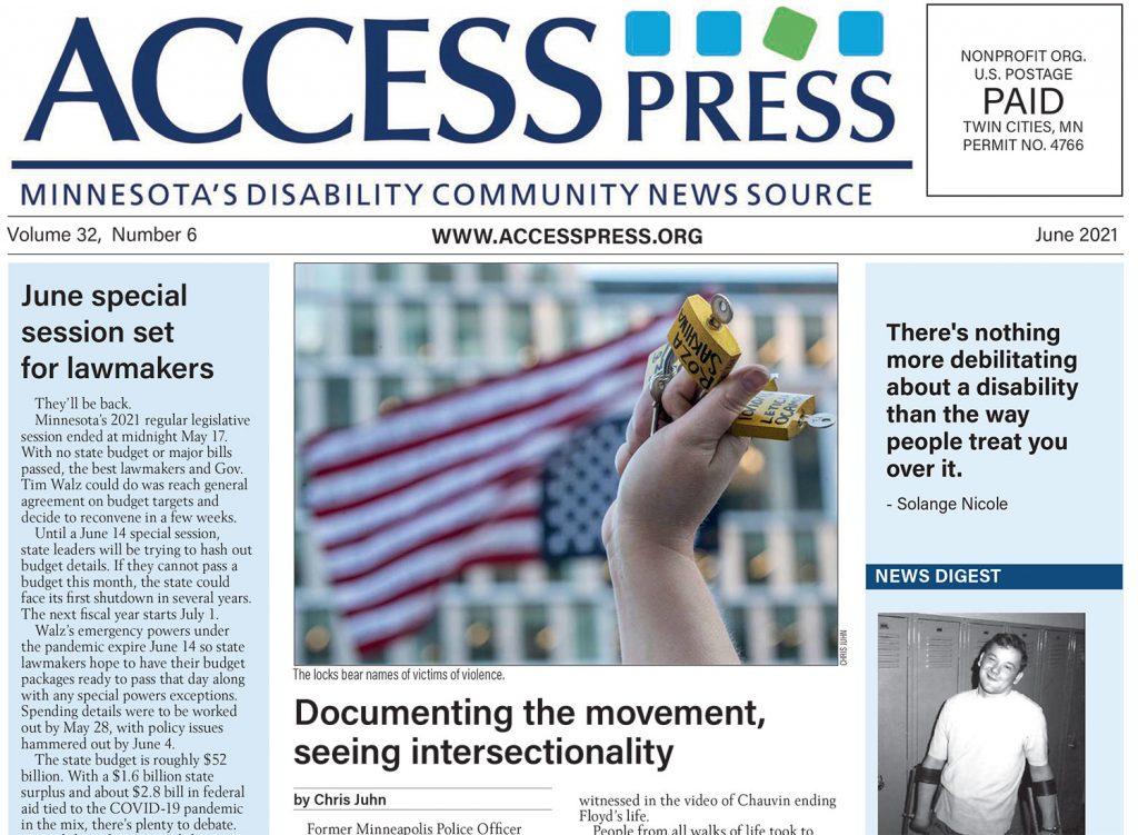 June 2021 Access Press cover