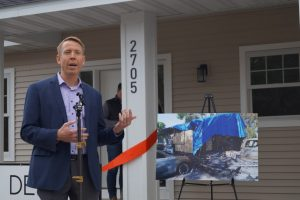 Ribbon-cutting event at new home