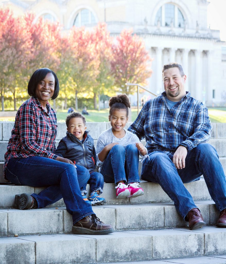 Cora Holland-Koller with family