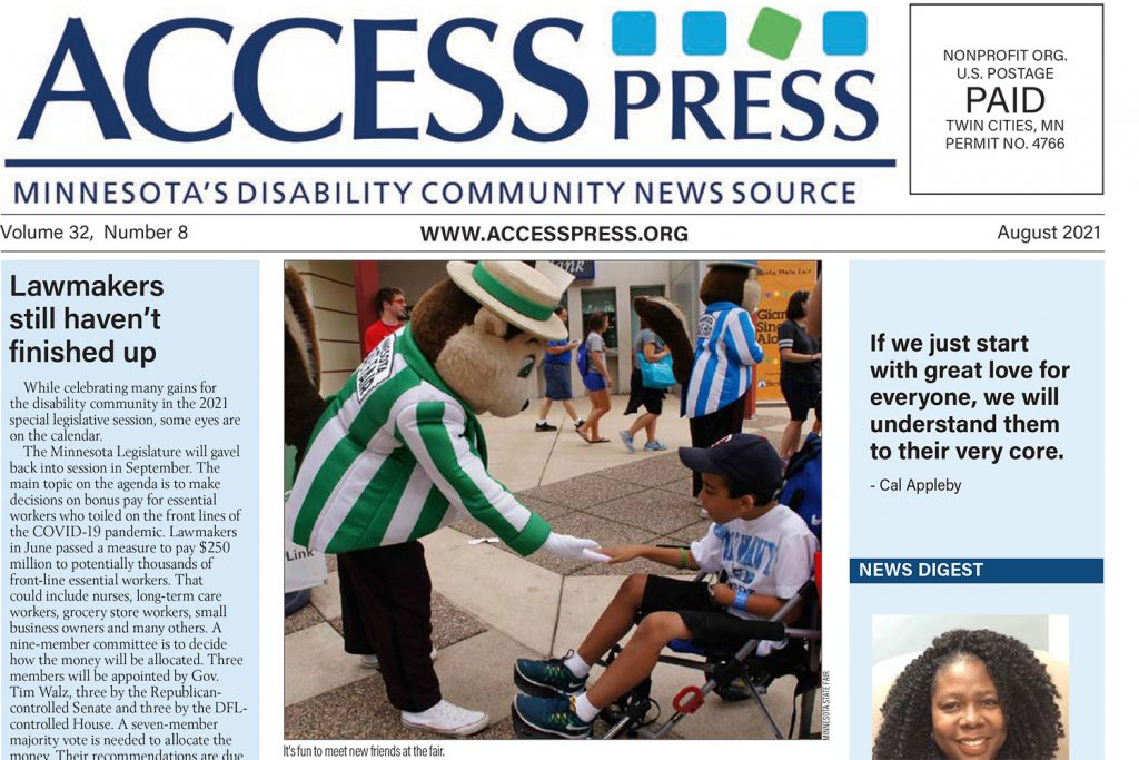 August 2021 cover of Access Press